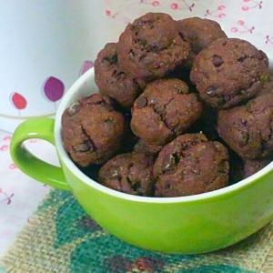 ころんとかわいい1口チョコクッキー☆卵・乳製品なし