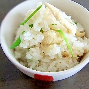 季節限定★新生姜のシンプル炊込みごはん