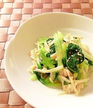 レンジで簡単♪小松菜とえのきのナムル✿
