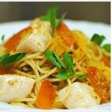 ボッタルガと帆立の冷製スパゲッティーニ