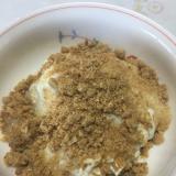 きな粉風味のオートミールで豆乳ヨーグルト