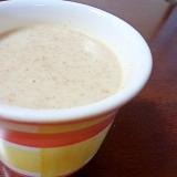 香ばしい(*´ω`*)黒豆茶豆乳酒粕粥