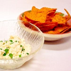 ドリトスの豆腐ネギマヨディップ