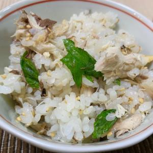 朝ごはん☆サバと大葉の混ぜご飯