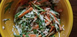 にんじんと水菜のサラダ