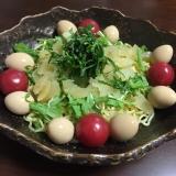 水菜と数の子のラーメンサラダ