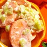 柿の塩麹サワークリームサラダ