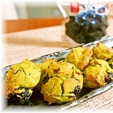 黒豆と抹茶のソフトクッキー