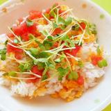 明太子と卵の簡単ちらし寿司