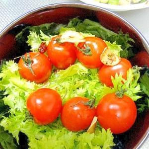 フルーツトマトのローズマリーペペロンチーノサラダ