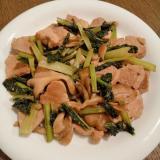 豚ヒレ肉&小松菜&舞茸のオイスター炒め