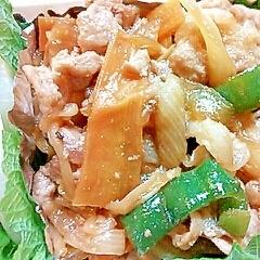 お弁当に簡単!焼肉のタレで肉野菜炒め