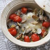 スープポット(土鍋)で、アクアパッツァ風スープ