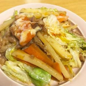 BBQチーズ味の野菜炒め