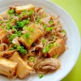 【中華ごま】厚揚げと春雨豚肉の炒め煮