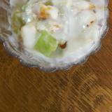 キウイ&メロンのマシュマロチーズヨーグルト