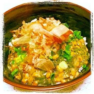 【簡単】納豆とめかぶのネバネバ丼【混ぜるだけ】