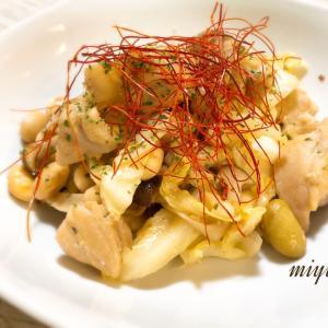 キャベツとお豆さんのアーリオオーリオ