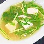 豆腐と水菜のスープ