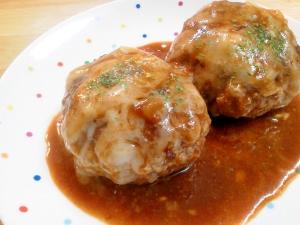 ご飯がススム♪カレー味のとろ~りチーズハンバーグ☆