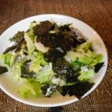 ままかりとレタスの海苔サラダ