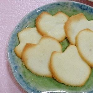 サクサク薄焼きクッキー☆ 桜の花びらラングドシャ