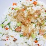 青梗菜の炒飯