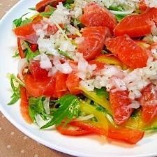 サーモンと彩り野菜のカルパッチョ