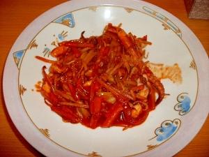 韓国風イカの野菜炒め