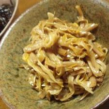 つぼみの炒め煮