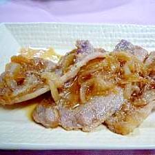 簡単☆豚の生姜焼きと新玉ねぎの煮込み風