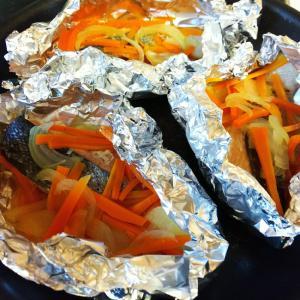 簡単!鮭のアルミホイル焼き♪