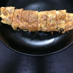 簡単におかず一品!☆フライパンで納豆玉子焼き☆