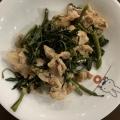 1:1:1で簡単 空芯菜と豚こまのニンニク醤油炒め