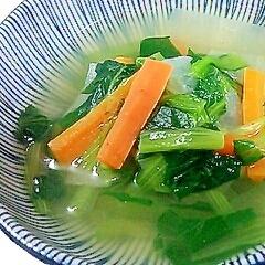 簡単♪小松菜と大根と人参の中華スープ煮
