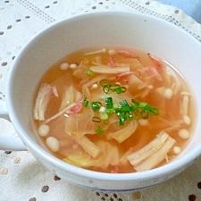 貝ダシダと麺つゆで簡単スープ