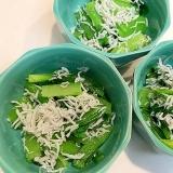 簡単チンだけ☆小松菜とジャコの和え物