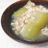冬瓜(とうがん)の鶏そぼろ煮