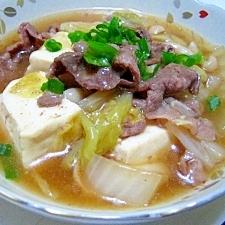 フライパンですき焼き風豆腐の煮物