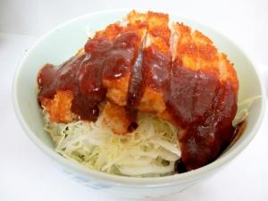 デミカツ丼風