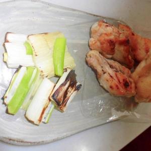 葱と骨付き鶏グリル