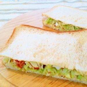 ♪キャベツとシーフードミックスのサンドイッチ♪