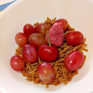 紅フルーティー☆赤い果実のオールブランヨーグルト♪
