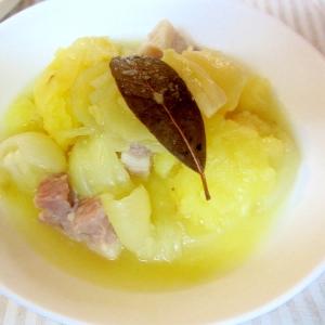 塩豚とじゃが芋の蒸し煮