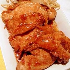 スタミナもりもり!にんにく鶏肉ソテー。