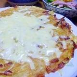千切りポテトのチーズ焼き