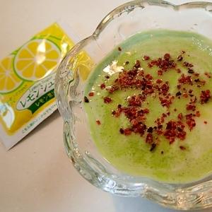 レモンシュガーとローズヒップの青汁おからヨーグルト