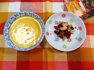 飲む美容☆ミキサーなしで簡単*豆乳かぼちゃスープ♡ レシピ ...
