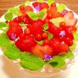 メロンとイチゴ☆ショートケーキ