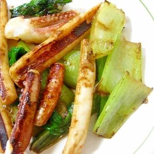イカとチンゲン菜のソース炒め